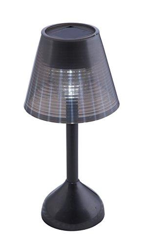Lámpara de mesa LED Solar color negro 0,06W 3.2V IP44 apta para exteriores