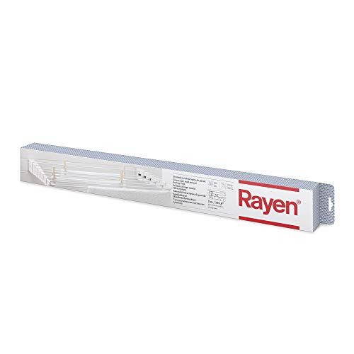 Rayen | Tendedero telescópico de Pared | Tanto para Interior como para Exterior | 5 Metro de Superficie d etendido | Plegable para Ahorrar Espacio | Dimensiones 80 x 37 cm