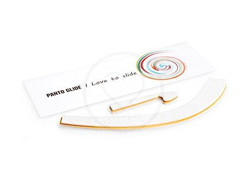 Panto Glide Junior Tagwerc–Panton Junior de Vitra, Silla de Verner Panton–Silla Infantil Panton Chair–Libre de Fieltro para Muebles (schwinger (Blanco)