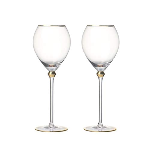 WENYOG Copas De Vino Fashion Pintado Hecha a Mano con Hechos a Mano cristalinas de Vino Tinto para Boda Fiesta de Champagne de Fiesta 08 (Color : Set of 2pcs)