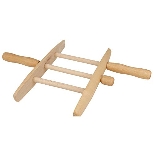 Lantelme Wäscheseil Wickler Holz aus Buche Leinenwickler Drachenschnur Holzwickler Achse Drehbar 3 Sprossen 7989