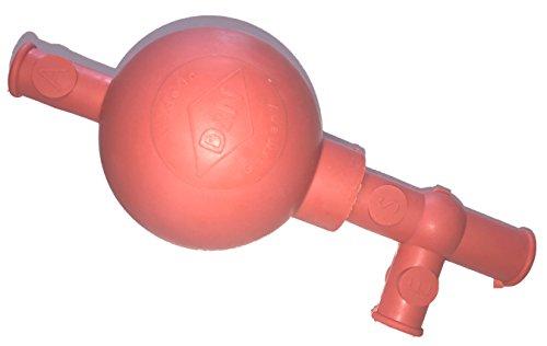 PELEUSBALL Pipettierball ca 10 ml klein Naturkautschuk (universal - 100ml Pipetten, rot)