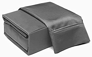Addy Home Fashions 6 Piece Thread Count 100% Cotton Sheet Set, Queen, Charcoal