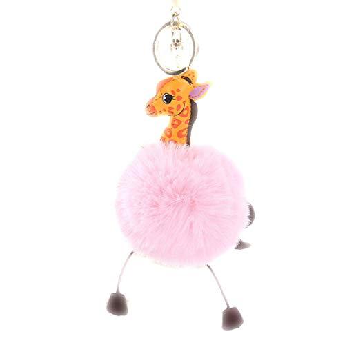 LHHA Mignon Girafe Jouets en Peluche Porte-clés Voiture Pendentif Sac Porte-clés décorations Cadeau de Vacances