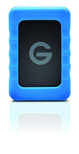 G-Technology 2TB G-DRIVE ev RaW Portable External Hard Drive with Removable Protective Rubber Bumper - USB 3.0 - 0G10199-1