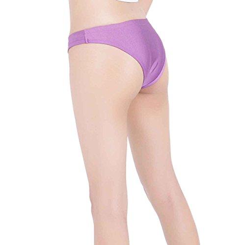 ツルツルニット ローライズ ソング ショーツ KN88 超特大100kgサイズ, 紫