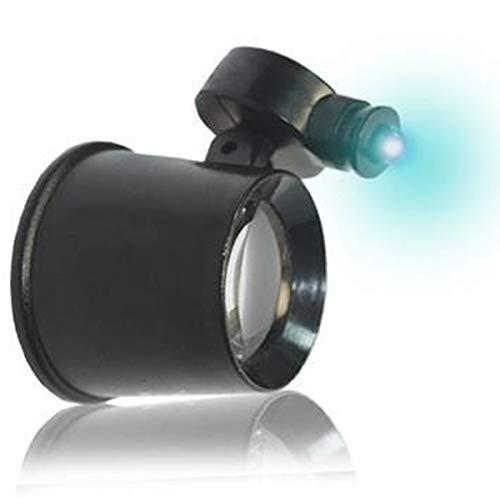 Lupa de 10 aumentos con luz led móvil