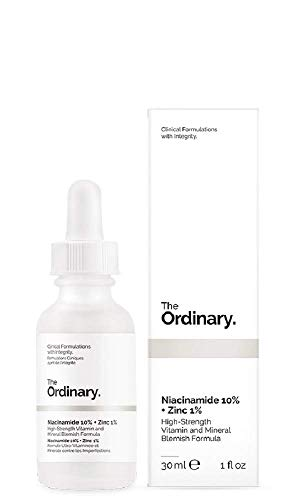 The Ordinary Niacinamide 10% + Zinc 1% Suero antirrojeces, 30 ml, formulaciones clínicas con integridad