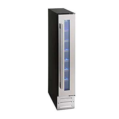 Montpellier WS7SDX 7 Bottle Slimline Wine Cooler - Stainless Steel