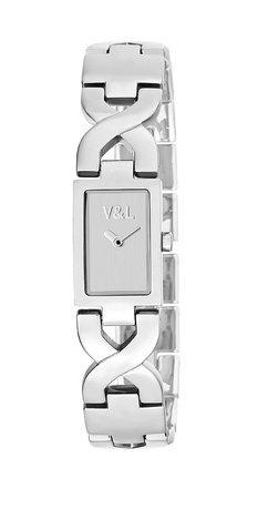 V&L Reloj analogico para Mujer de Cuarzo con Correa en Acero Inoxidable VL091202