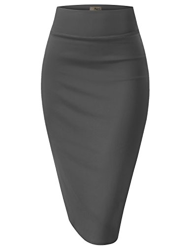 Womens Pencil Skirt for Office Wear KSK43584 10589 BLACK L