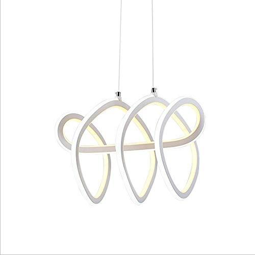 LED Lámpara moderna regulable techo LED 120W lámpara de techo espiral blanco LED de ahorro de energía de la lámpara del techo de la luz minimalista restaurante Living Room luces pendientes colgantes L
