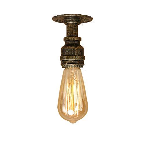Lampes Tube d'Eau Plafonnier Industrielle E27 Edison Vintage en Métal Couloir éclairage pour Chevet Cafe Lampe de Nuit de Studio Porte Chambre. (Cyan)