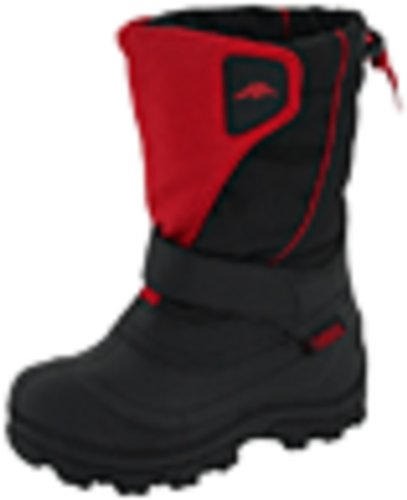 Tundra Unisex Child Quebec, Watter Resistant Winter Boots, Red, 2 M US Little Kid