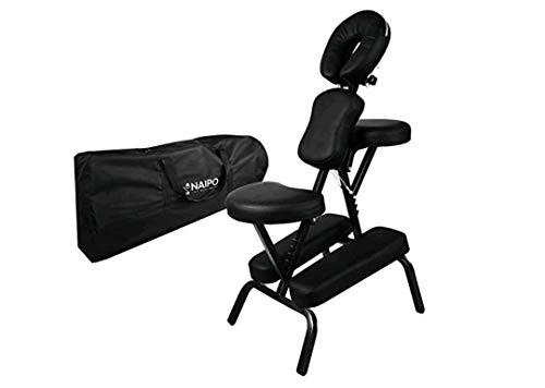 Sillón de masaje, camilla de masaje, sillón de tatuaje, asiento y reposabrazos ajustables, reposacabezas continuamente giratorio, soporte para el pecho continuamente ajustable, orificio facial