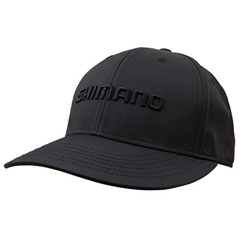 SHIMANO Trucker Style Blackout Cap, Black, One Size