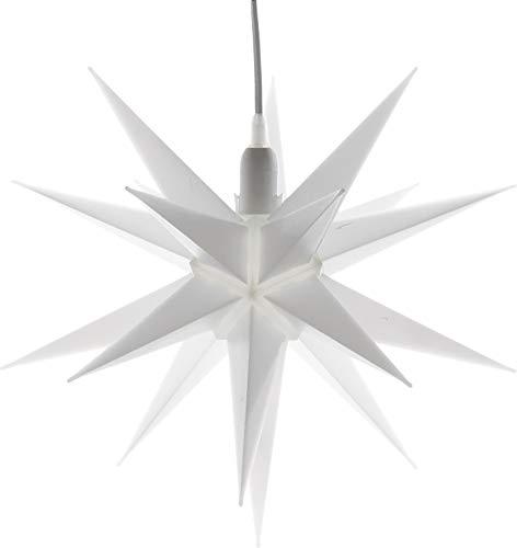Cepewa 30188 Weihnachtsstern weiß Stern 3D 35 cm Lampe Fensterstern Adventsstern Deko