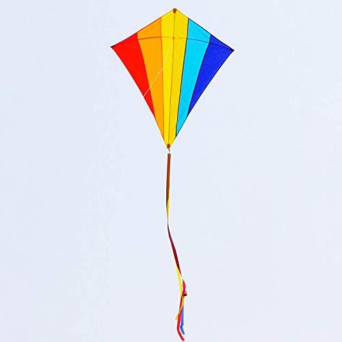 Uwhsag Bunter Vogel Drachen,Bastelset Kinder,Kinderdrachen Erwachsene Drach Kite lenkdrachen,ideal für Kinder Und Erwachsene, Anfänger Spielaktivitäten Im Freien, Strandausflug
