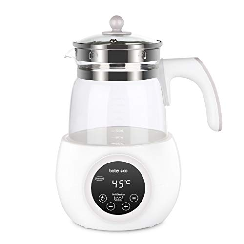 BabyEXO Baby Formula Kettle Precise Temperature Formula Mixing Water Kettle 24 Hours Baby Milk Warmer and sterilizer Warm Bottle 1.2L Formula Maker BPA-Free Boil-Dry Protection Quick Bottle Warmer