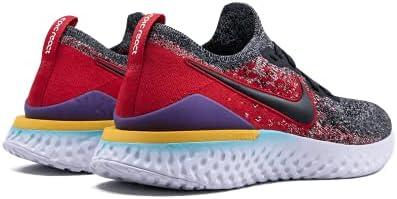 Nike Epic React Flyknit 2 Men's Running Shoe Black/Black-Hyper Jade-University RED 12.0