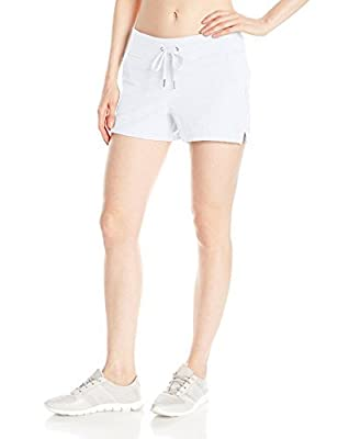 Calvin Klein Women's 3.5 Inch Baby Boucle Slant Pocket Performance Short, White, Medium