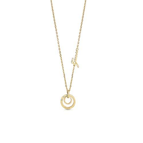 Guess Damen-Kette Chain Circles Edelstahl One Size Gold 32011716