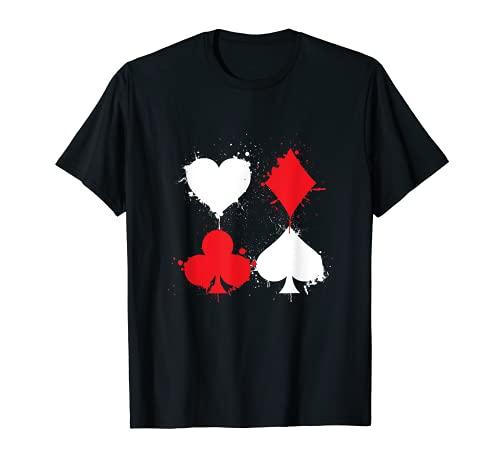 Cartas De Juego Póker Corazón Pala Diamante Club All In Camiseta