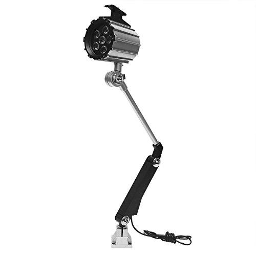 Wisamic LED Werkzeug Drehmaschine Lampe Maschinenleuchte - Lange Arm 12W 110V- 220V Arbeitsleuchte einstellbar Arbeitsscheinwerfer mit 50.000 Stunden Lebensdauer