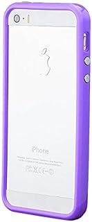 iCues Apple iPhone SE / 5S / 5 Parachoques con Botones de Aluminio de la púrpura   [Protector de Pantalla, Incluyendo] Caso del capítulo de la Cubierta Casos Funda Carcasa Bolsa Cover Case