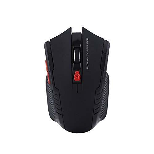 PUSOKEI Wireless Gaming Mouse, Mini Portable Wireless Computer Mouse with 800DPI/1200DPI, 6 Buttons, Ergonomic Optical Gaming Mouse for PC Laptop(Black)