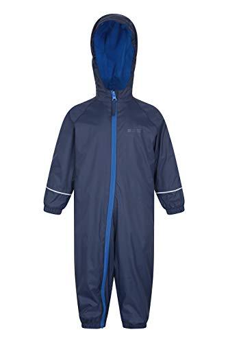 Mountain Warehouse Mountain Warehouse Spright Bedruckter Regenanzug - Atmungsaktiv, Gefüttert, Wasserfest, versiegelte Nähte Anzug, Fleecefutter - Für Jungen und Mädchen, Frühling Marineblau 12-18 Monate