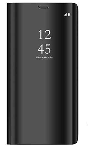 BCIT Samsung Galaxy S9 Funda - Modelo Inteligente Fecha/Hora Ver Espejo Brillante tirón del Caso Duro con para el Samsung Galaxy S9 - Negro