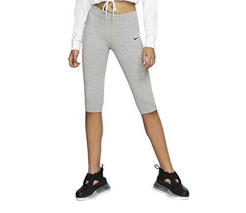 Nike Leg-A-See Knee Lenght Leggings (S, darkgrey heather)