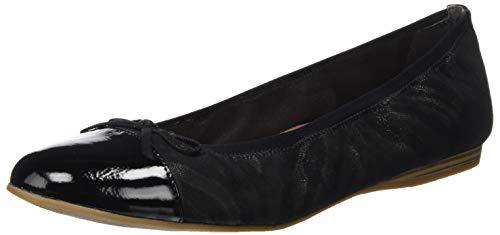 Tamaris Damen 1-1-22129-24 Geschlossene Ballerinas, Schwarz (Black Struct. 006), 41 EU