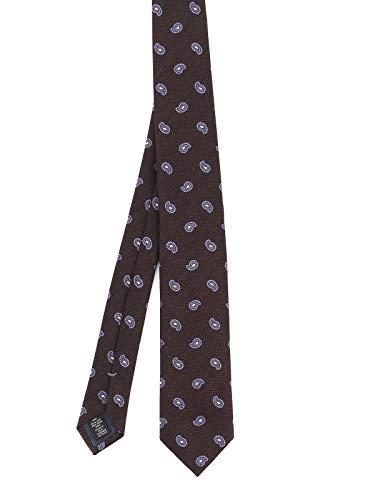 Ermenegildo Zegna Luxury Fashion Herren Z8D321L7E Braun Seide Krawatte | Herbst Winter 20