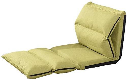 REWD Luie Stoel, Luie Sofa Eenpersoons Opklapbare Slaapbank Stoel Kleine Slaapbank +Balkon Vrije tijd Lounge Stoel (Kleur : Groen)