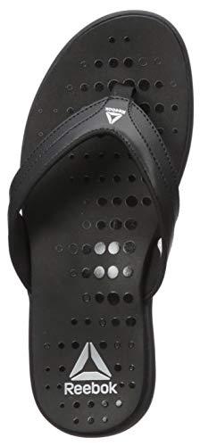 Reebok Women's Women's Surge Thong Sandal, Black, 9 B US