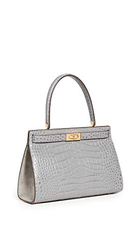 Leather: Croc-embossed cowhide Gold-tone hardware, Structured silhouette Length: 11.5in / 29cm Height: 7.5in / 19cm Push-lock closure