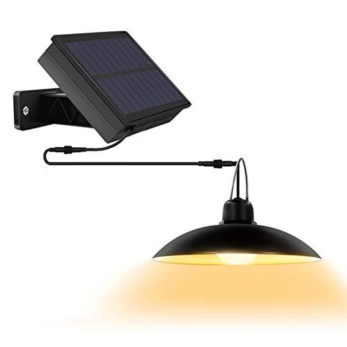 Beautymei Lámpara de techo solar Ip65, impermeable, funciona con energía solar, con mando a distancia y cable de tracción para interiores y exteriores, cobertizos, garajes, pérgolas
