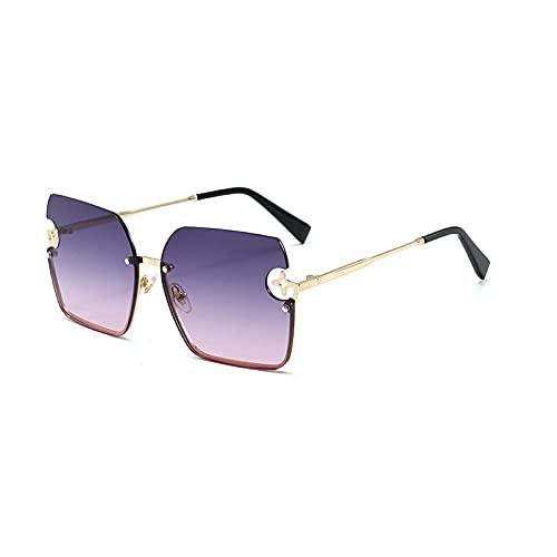 Gafas de sol para mujer, protección contra los rayos UV, radio, gafas de sol, a la moda, Lady Drivoules gafas de sol, gafas de sol, película doble marco en oro
