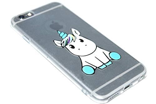 ADEL - Cover morbida in silicone TPU, compatibile con iPhone 6/6S – Unicorno