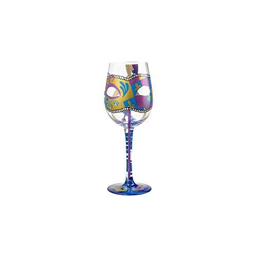 Enesco 6001631pintado a mano copa de vino, 9.05