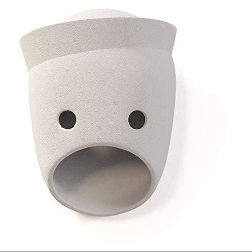 LED Wandlampe Wohnzimmer Schlafzimmer Nacht Gang Bar Coffee Shop Nordische Dänische Persönlichkeit Maske Bett Und Frühstück Kreative Persönlichkeit Niederländisches Design Wandlampe 17 * 22Cm