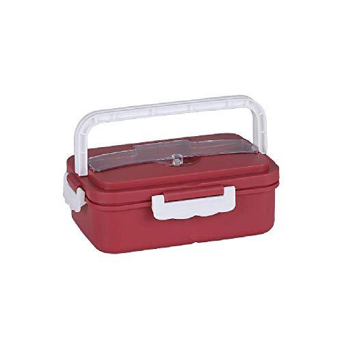 Weizen-Stroh-Lunchbox Versiegelt Kunststoff-Student Frische Kastenkasten mit Deckel kann Mikrowelle erhitzt Lunchbox,Red