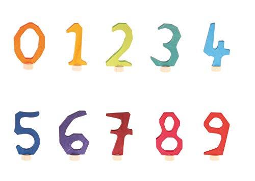 Preisvergleich Produktbild Grimm's 04500-04530 Waldorfstecker Zahlen-Set 0-9