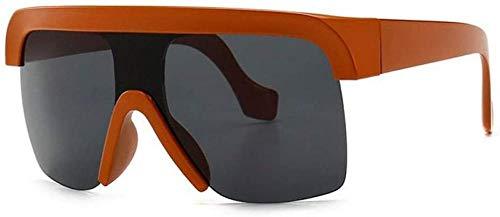 ZYIZEE Gafas de Sol Gafas de Sol con Visera sin Montura de Moda para Mujer Gafas de Sol con Escudo de Gran tamaño Gafas Planas y Frescas para Hombre Parabrisas-2