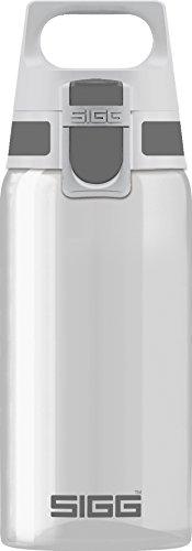 SIGG Total Clear ONE Anthracite Trinkflasche (0.5 L), schadstofffreie und auslaufsichere Trinkflasche, leichte Trinkflasche aus Tritan