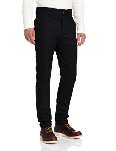 Dickies Men's Slim Skinny Fit Work Pant, Black, 31x32