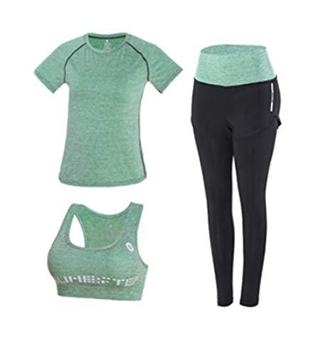 Broek, hoge taille, met capuchon + T-shirt + beha + kortsluiting voor yoga, 5 stuks bevestigd, voor buitenshuis, fitnessstudio, snelle configuratie