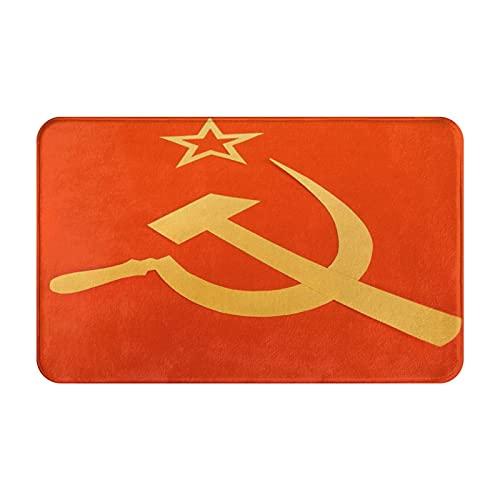 CONICIXI Felpudo Entrada Casa Rectangular Bandera CCCP Comunista con Hoz y Martillo, símbolos del Comunismo Impermeable Antideslizante Lavable Alfombra para Interior y Exterior 50x80cm